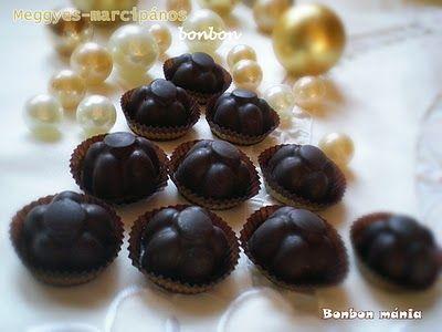 Bonbon mánia: Aszalt meggyes-marcipános bonbon