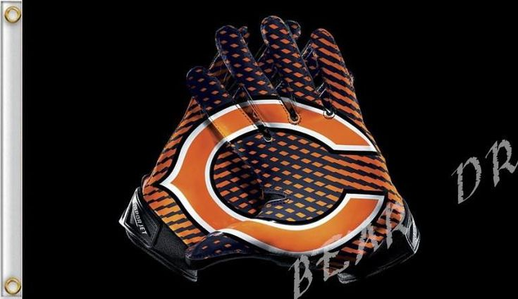 Chicago Bears Glove 3x5 ft flag 100D Polyester flag 90x150cm NFL custom american football gloves flag  #MLB #Cubs #Dubnation #Raiders