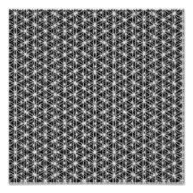 Flower Of Life Intricate Weave #5 Poster