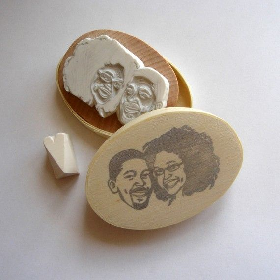 Custom / couple portrait / handcarved rubber stamp by lilimandrill, $70.00...A.Ma.Zing!!!! I want one of these :)