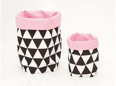 Opbergzak roze en zwart-wit