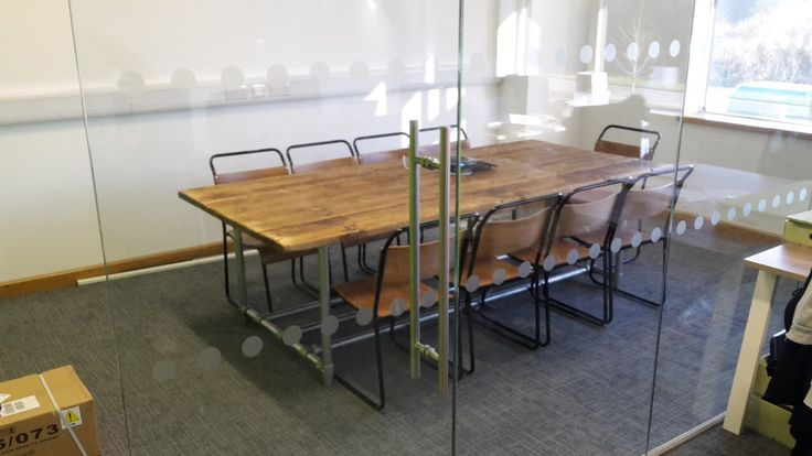 Custom Industrial Style Scaffold Conference Boardroom Table Desk With Cable Management by IndustrialFurniCo on Etsy https://www.etsy.com/uk/listing/495415893/custom-industrial-style-scaffold
