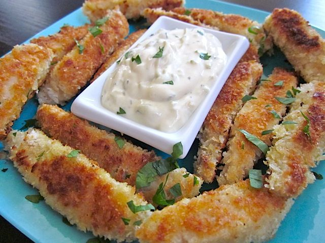 Make your own fresh fish sticks with tilapia filets and forget those soggy frozen fish sticks.