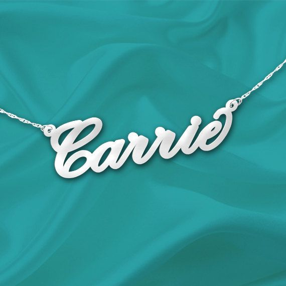 Name Necklace Sterling Silver Personalized by NameInJewelry, $39.99
