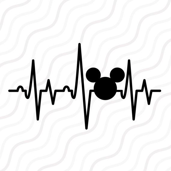 Mickey Heatbeat SVG,Disney Castle SVG, Addict Mickey svg Cut table Design,svg,dxf,png Use With Silhouette Studio & Cricut_Instant Download