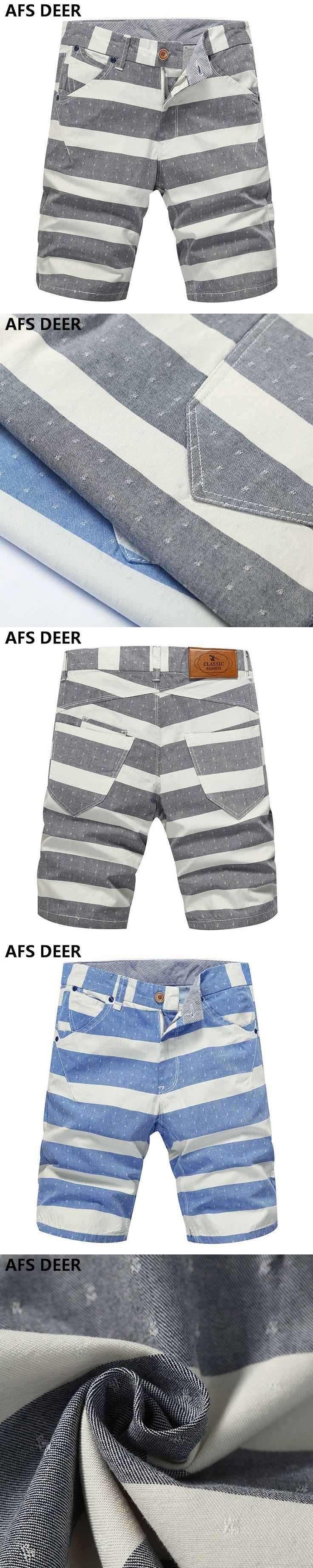 High Quality Mens Shorts  Board Shorts Summer causal Beach Bermuda Short Pants stripped male shorts Boardshorts Big Size