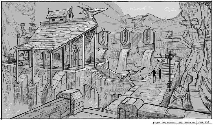 93 best environment art 2d 3d images on pinterest for 2d building drawing