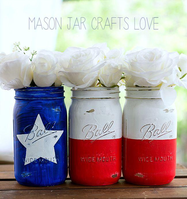 DIY Texas flag mason jars how-to