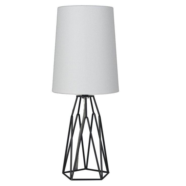 Accent Table Lamp With Metal Wire Black Lamp Only Mastercraft International In 2021 Black Lamps Lamp Decorative Table Lamps