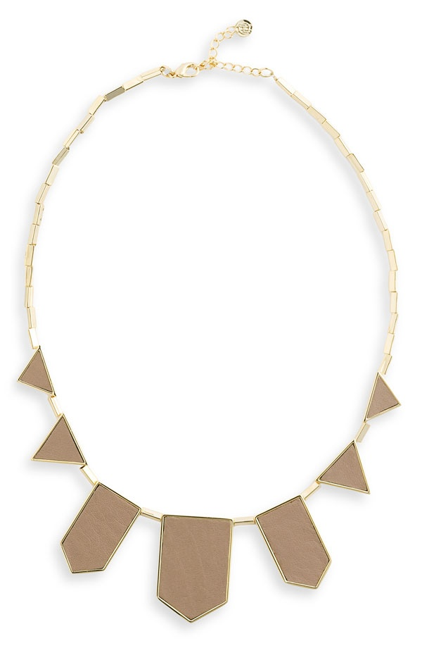 current fav necklace looks great with anything: Triangles Necklaces, Stations Necklaces, Khakis Leather, Harlow Necklaces, Gold Necklaces, Cool Necklaces, Geometric Necklaces, Bibs Necklaces, Chunky Necklaces