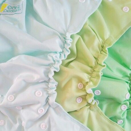 Easy Peasies cloth diapers #compare colors! Mint, avocado, charlie