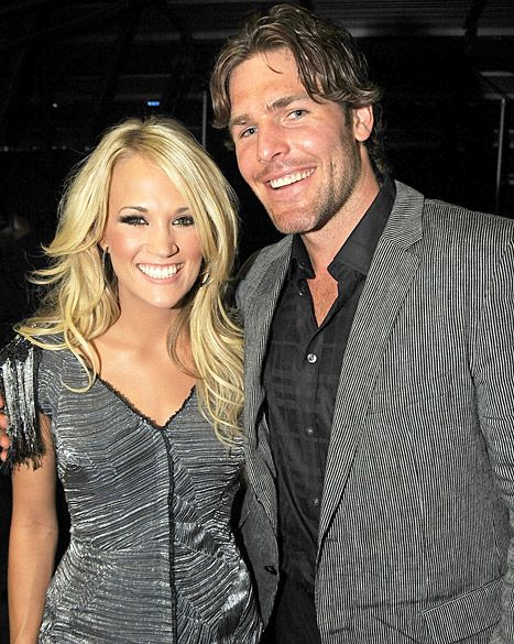 carrie underwood and mike fisher | Carrie Underwood and Mike Fisher on June 9, 2010 in Nashville ...