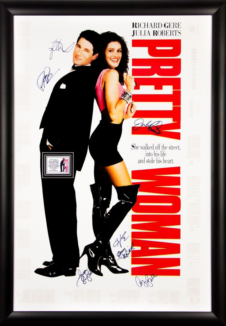 Pretty Woman - Cast Signed 27x40 Movie Poster in Framed Case
