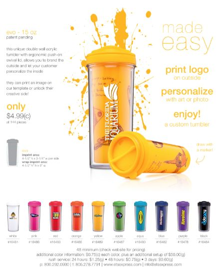 Picture This... Your Business Logo on a Drink Tumbler!