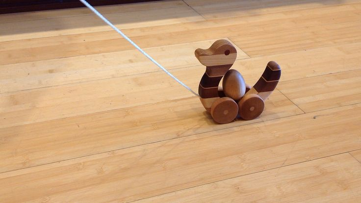 The wooden duck pull toy would make a great gift to give a toddler who is just starting to walk.