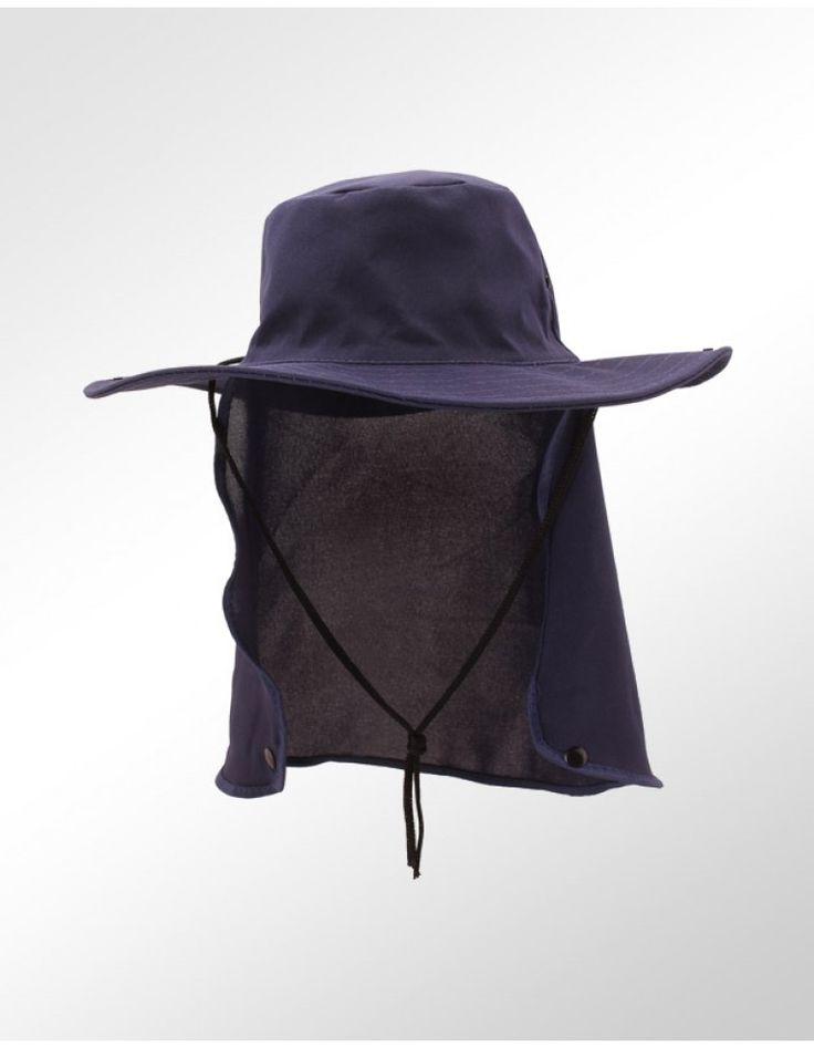 Chapéu Pescador Azul com Proteção para Pescoço