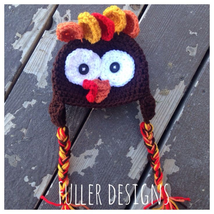Turkey hat, crochet hat, thanksgiving hat, crochet thanksgiving hat, thanksgiving turkey, crochet turkey, holiday hat, photography props by FullerDesigns8 on Etsy