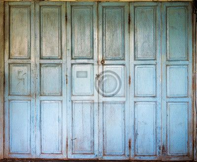 Fotobehang Een oude houten deuren