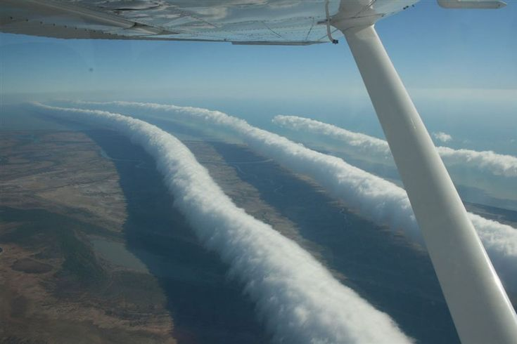 Morning Glory Clouds Over Australia.   These long, crazy-looking clouds can grow to be 600 miles long and can move at up to 35 miles per hour, causing problems for aircraft even on windless days. Credit & Licence: Mick Petroff