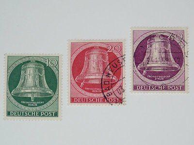 Stamp Pickers Berlin Germany 1951 Freedom Bell Lot Scott #9N71-72, 9N74 $60