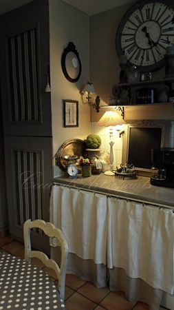 Skirting to hide washer & dryer in laundry room (& to add some softness)