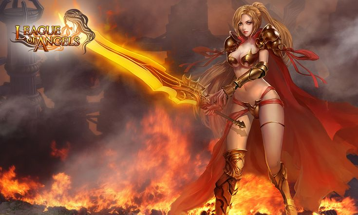 LEAGUE OF ANGELS Fantasy Angel Warrior League Angels Game Loa Wallpaper Background