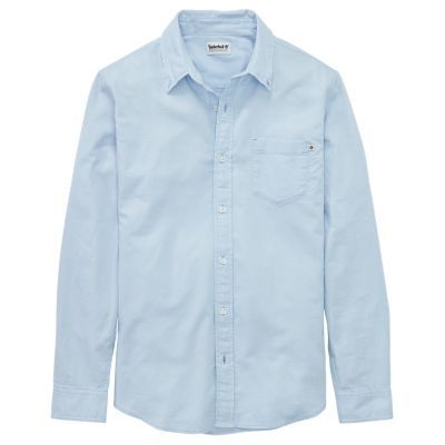 Timberland Men's Essential Button-Down Oxford Shirt Sky Blue