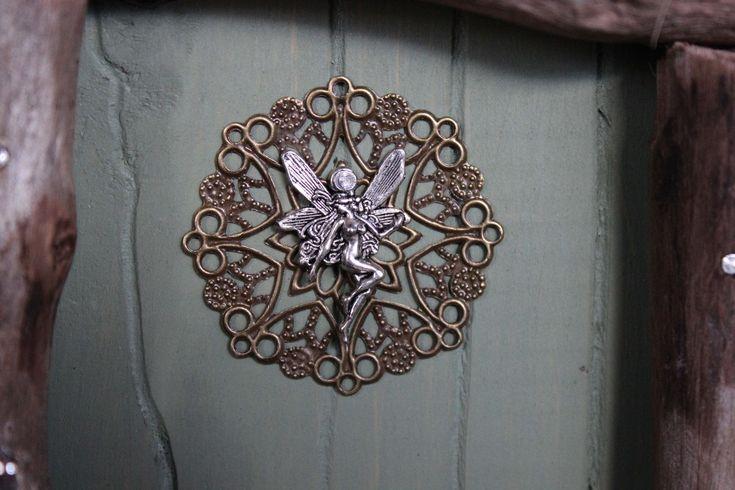 moss green fairy door, fairy charm