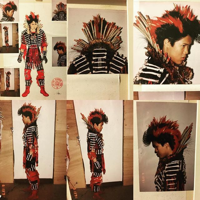 Ok, for any of you trying to pull off this costume for Halloween, here's the wardrobe test and sketch for #Rufio battle outfit. Good luck! I want to see who can pull it off!