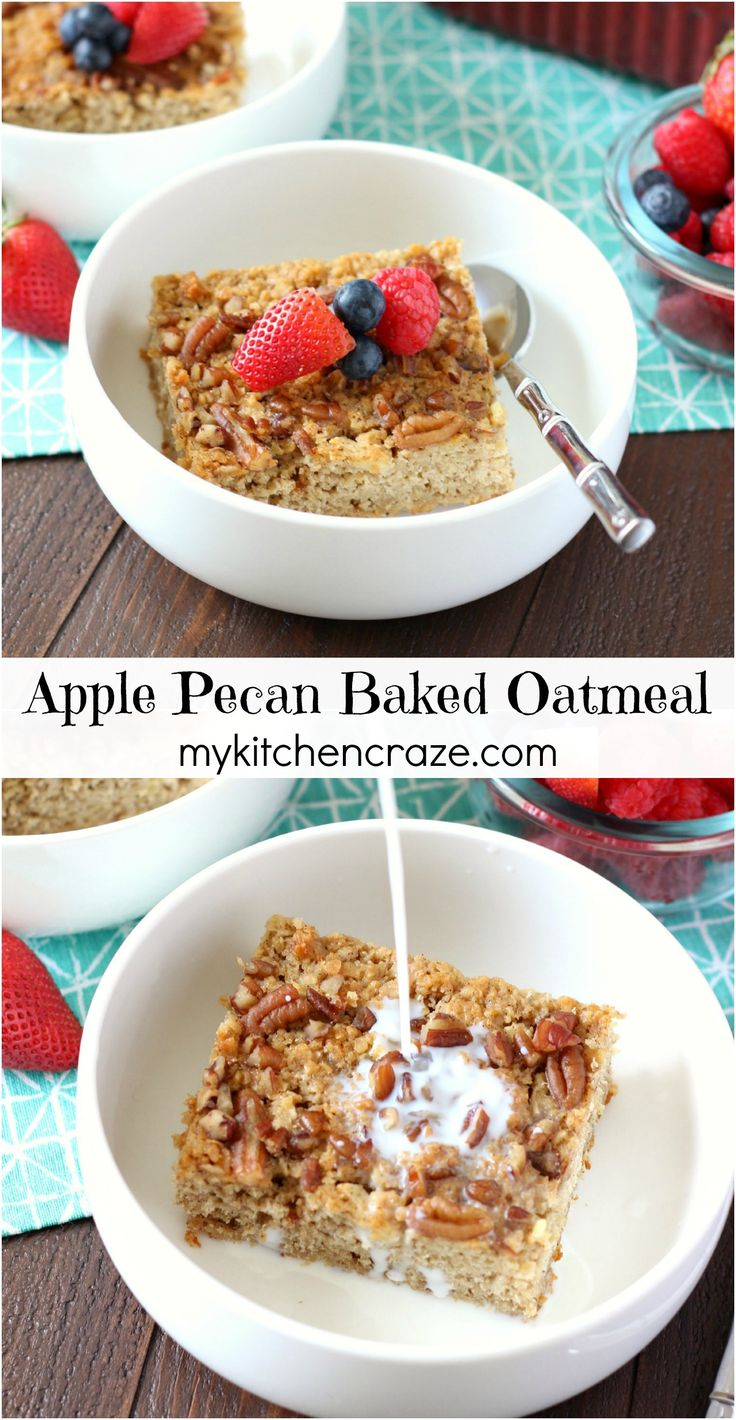 ... Pinterest | Meal prep recipes, Baked oatmeal and Make ahead breakfast