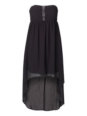 high-low tube dress
