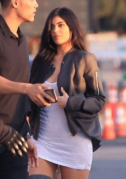 Kylie Jenner Photos Photos - Reality star Kylie Jenner and her on-again/off-again boyfriend Tyga are spotted at Kanye West's 'Famous' visual premiere at the LA Forum in Los Angeles, California on June 24, 2016. The pair who split up a couple months ago appear to be back together again. - Kylie Jenner