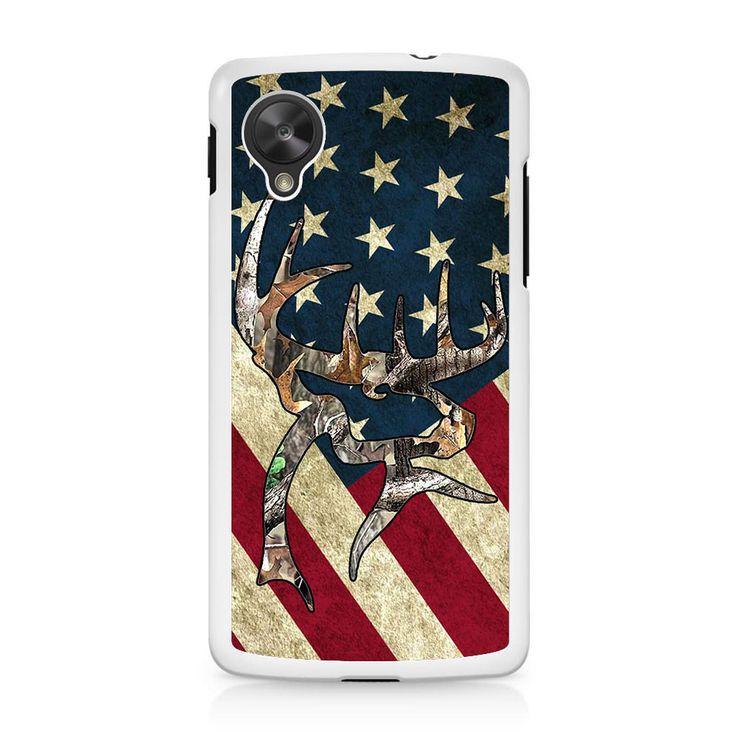 Camo Deer US Flag Nexus 5 Case