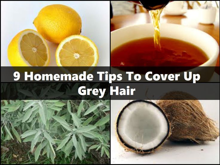 9 Homemade Tips To Cover Up Grey Hair http://www.stylecraze.com/articles/7-homemade-tips-to-cover-up-grey-hair/#