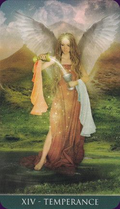 XIV - La Templanza - Tarot Thelema #carta #templanza #tarot #baraja