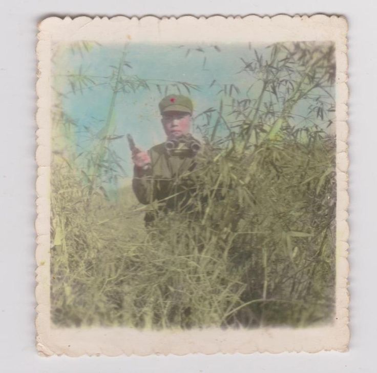 Original 1977 Hand Colored Photo People's Liberation Army Soldier with Pistol and Binoculars. Inscription (rev): 影于???1977.10.21 Ying Yu 368 ?? October 21, 1977 春风杨柳万千条,六亿神州尽舜尧 (Two lines from Mao's poem Farewell to the God of Plague). The spring wind blows amid ten thousand willow wands, Six hundred million in this land all equal Yao and Shun. From a large grouping of original paper items. See scale for size. Guaranteed Original. | eBay!