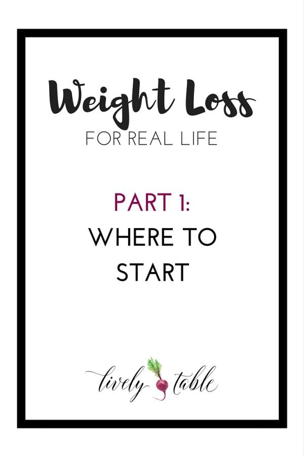 Weight loss tips for real life: where to start when trying to lose weight. (ad) |Via LivelyTable.com @LivelyTable