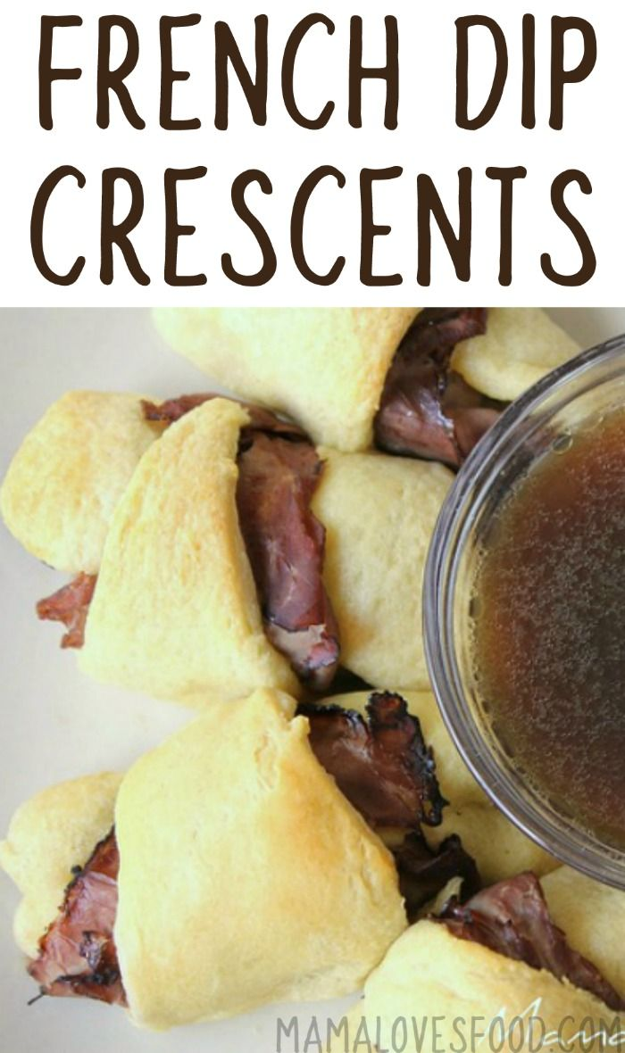 Love this for an easy dinner idea :-)   French Dip Crescents with Easy Au Jus