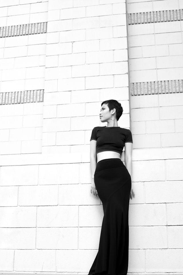Cropped shirt. Long skirt. So chic.: Fashion Boutique, Fashion Women