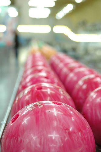 Pink bowling balls!