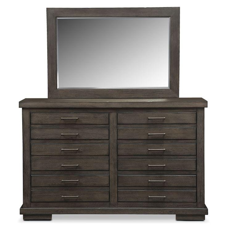 Jamestown Dresser And Mirror Sable Value City Furniture Industrial Dresser Pinterest