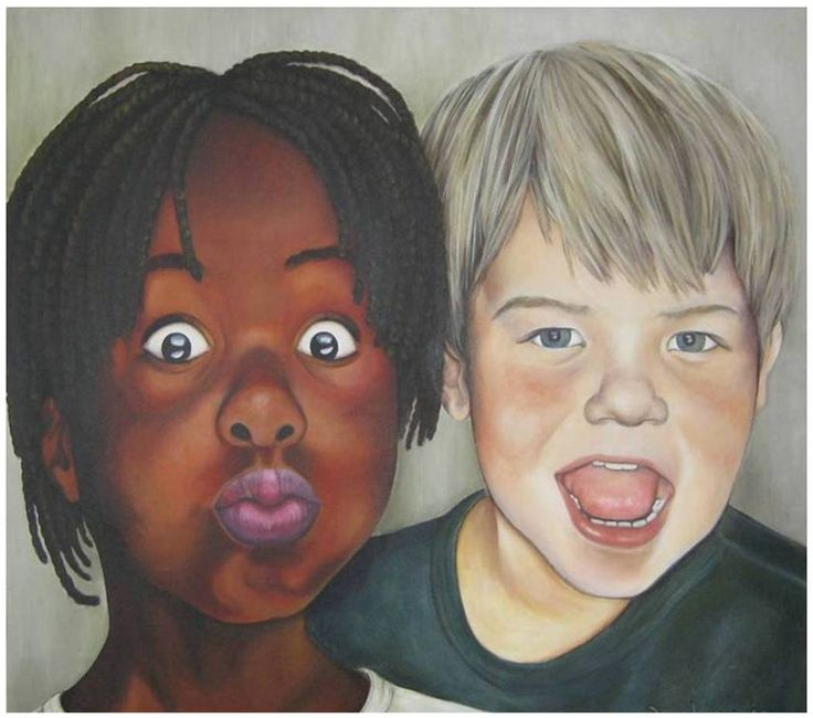 Jesus loves the little children of the World... Acrylic on Canvas (100 x 140cm)