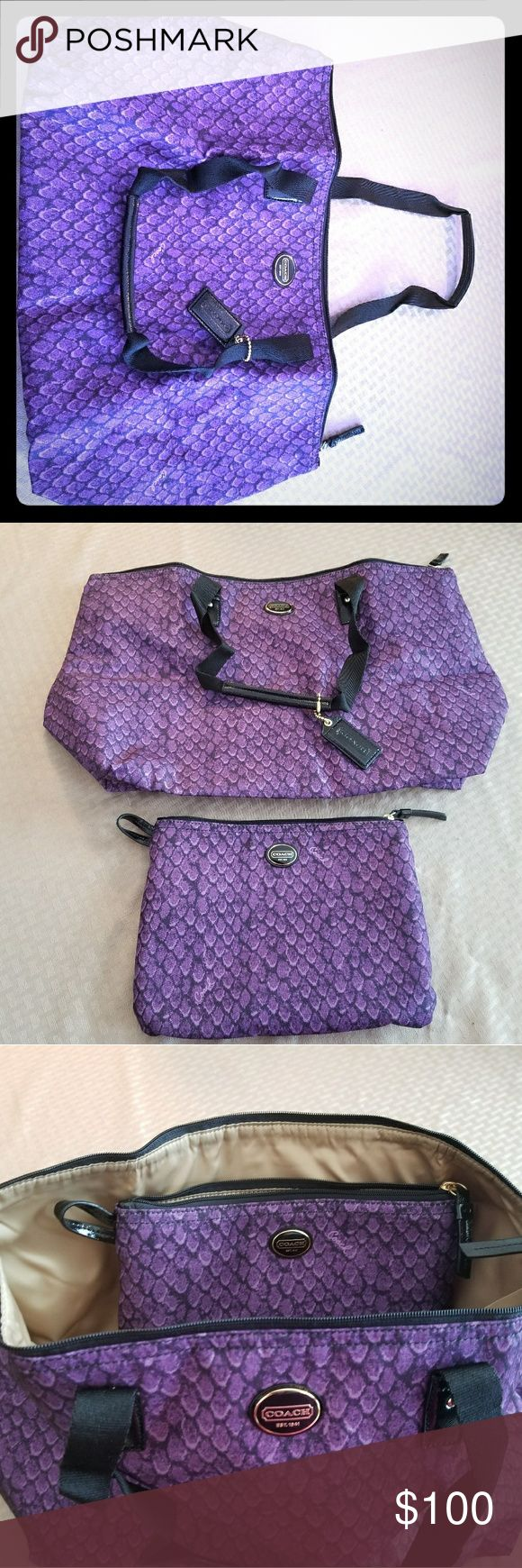 Coach Travel/Overnight Bag Brand New Purple Coach Bags Travel Bags