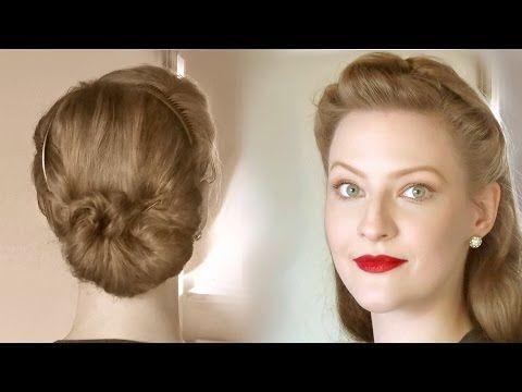 Lockere Retro Frisuren für den Alltag und jedes Alter - YouTube