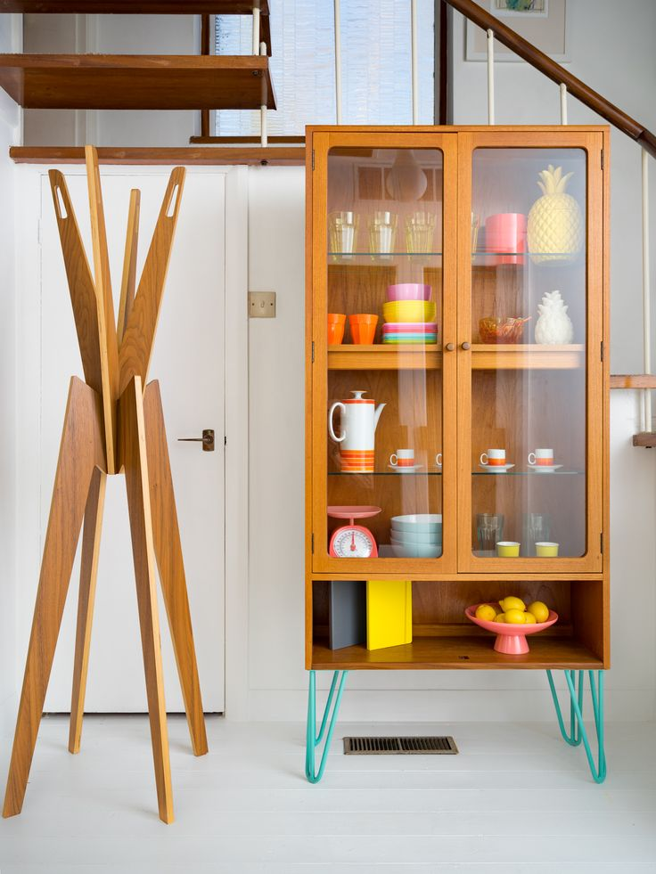 Hello! We are a husband and wife team based in Brighton with a love of Danish influenced Retro furniture. All of our pieces are hand picked and lovingly restored to their original beauty with a sprinkle of our own design ideas that make each piece unique. These beautiful Mid Century G Plan E Gomme Glass Display Cabinets are available made to order on a choice of your leg colour and height. We can order legs in most colours from the RAL colour chart. Please get in touch for colour options…