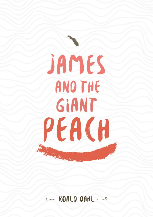 """Give me feedback on """"James and the Giant Peach - Book Cover Design"""", a work-in-progress on @Behance :: http://be.net/wip/1272385/2221883"""