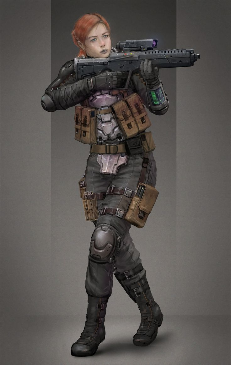 Female Alliance Trooper Learn more: http://icarusminiatures.com/concept-art-preview-female-alliance-trooper/