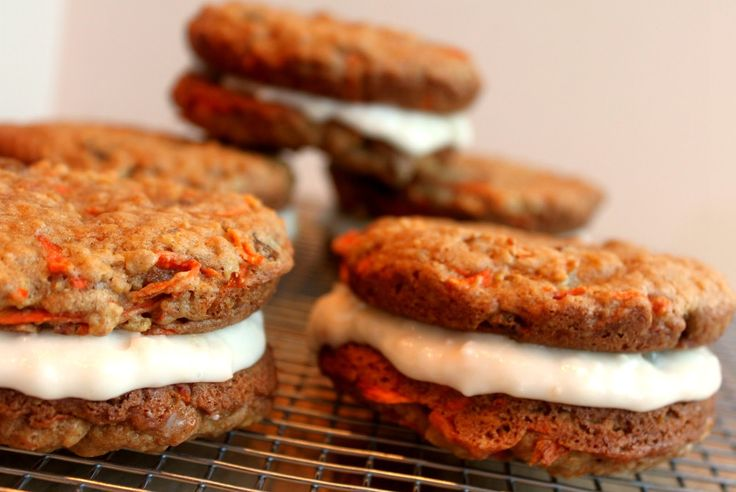 ... Carrot Cake Whoopie Pies with a Pineapple Coconut Cream Cheese Filling