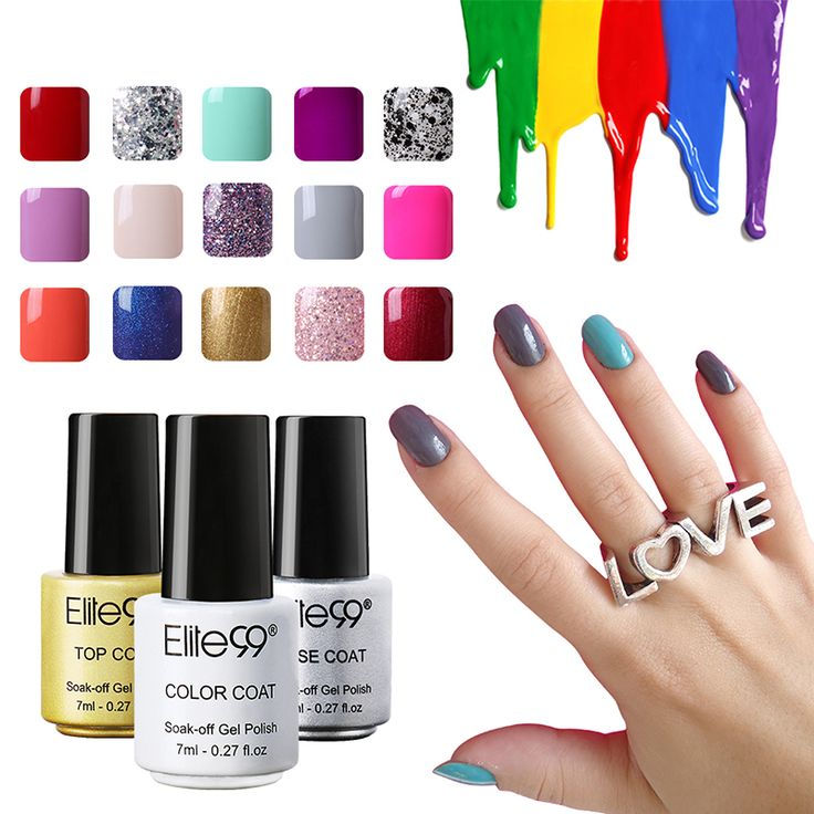 Elite99 7ml Gel Nail Polish 58 Color UV Nails Long Lasting Nail Polish Lacquer Best Gels for Nail Art Design