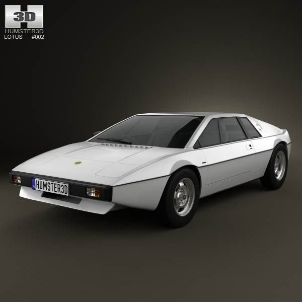 lotus esprit s1 1976 3d model from humster3dcom price 75